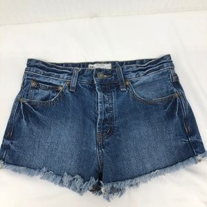 Free People cutoff Button Fly Denim 24 Shorts